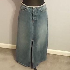 J. Crew jean skirt